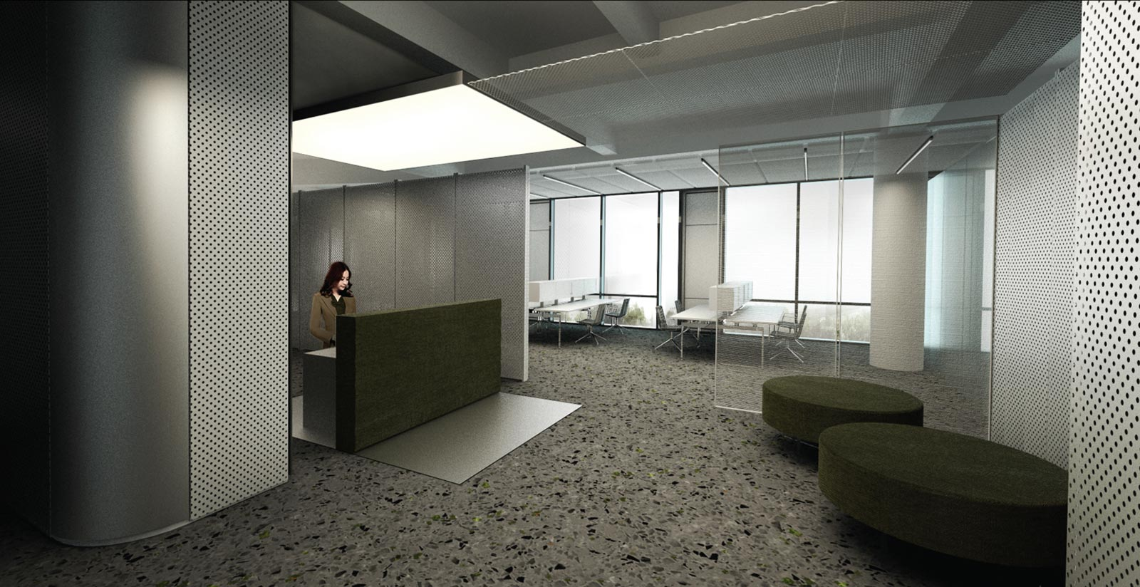 waa Poly Commercial Showroom 未觉建筑 保利 杨浦置地广场商办售楼部