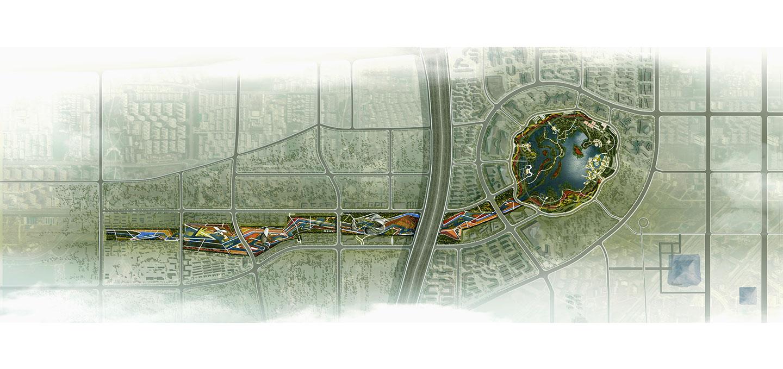 waa QuJiang Wetland Landscape Competition 西安曲江创意谷湿地公园中标
