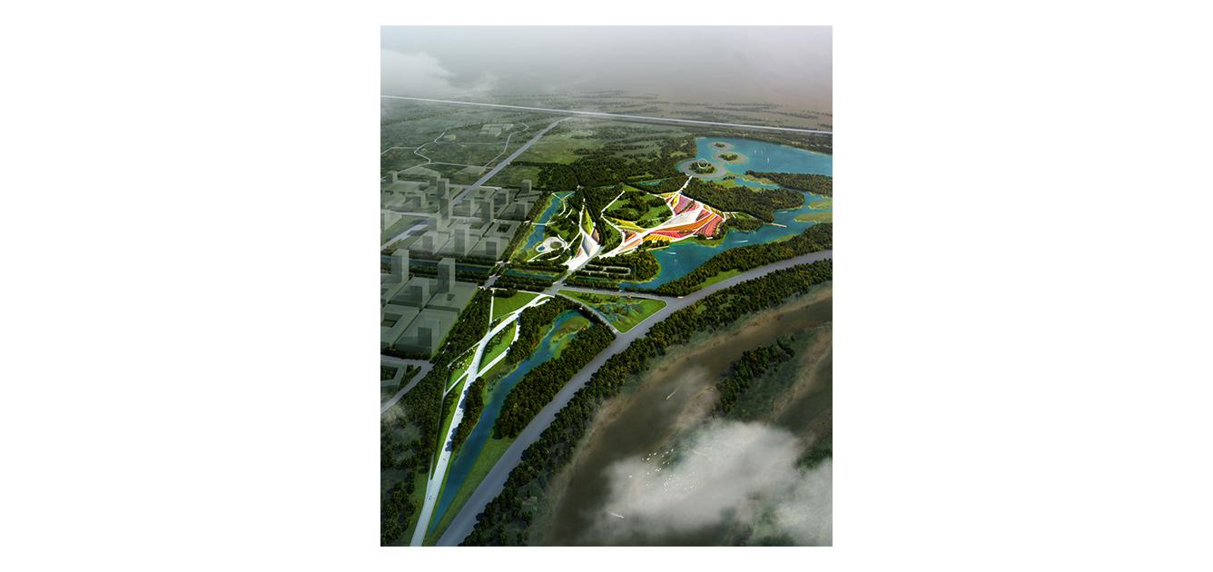 waa sculpture park masterplan 未觉建筑 华夏河图雕塑公园 总体规划
